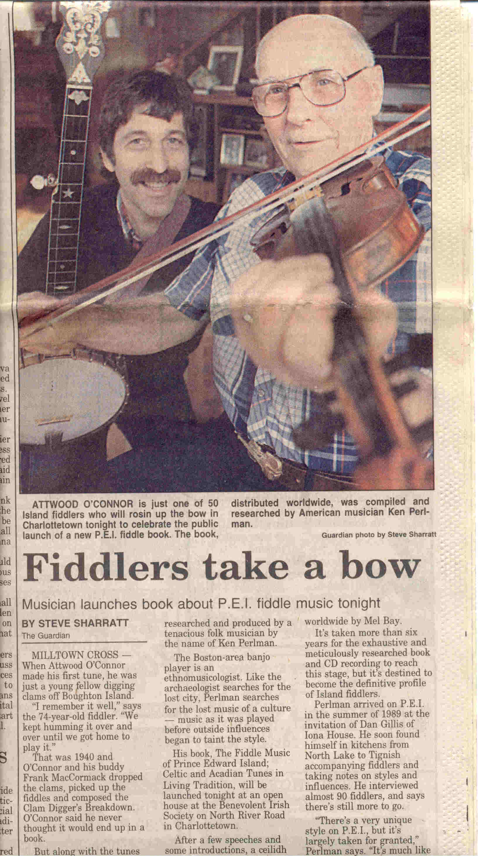 pei press coverage ken perlman ken perlman regards his discovery of prince edward island and its fiddlers as a gift every folk musician dreams of and it s thanks to perlman